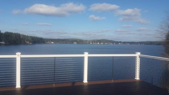 Overlook Lake Lashaway while standing on 308 Lakeside's balcony