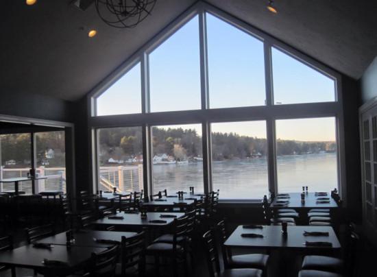 Overlook Lake Lashaway when dining at 308 Lakeside
